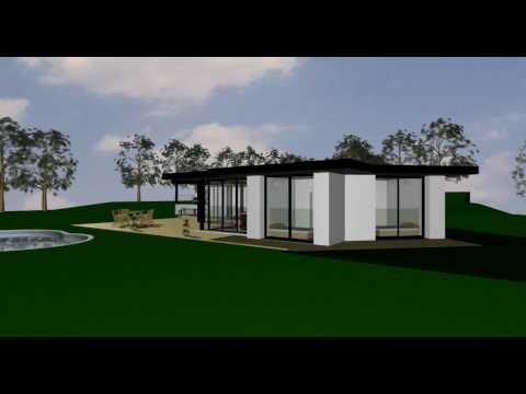 Maison moderne demi niveau très vitrée - YouTube