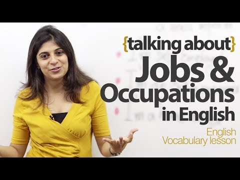 Talking About Jobs And Occupations In English - Free English Lesson video
