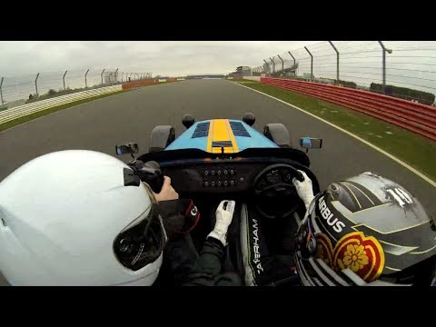 Caterham 620R lap of Silverstone with F1 driver Kamui Kobayashi