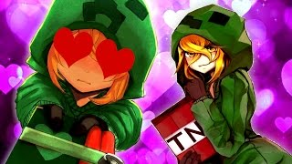GETTING IN BED WITH ANIME CREEPER!! | Minecraft A Dimensional Disaster (Beta version) #1