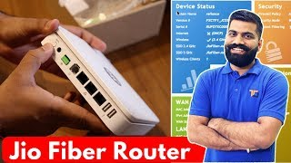 Jio Fiber Box Unboxing & Interface - Jio Landline Phone??
