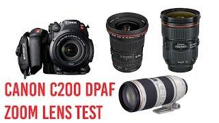 Canon C200 Zoom Lens Autofocus Test