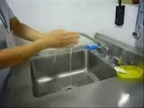 Limpieza material laboratorio
