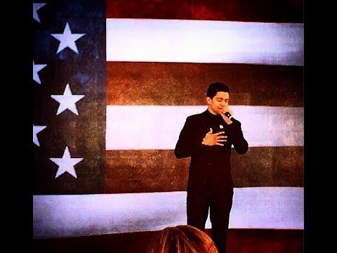 Luis Coronel Cantando El Himno Nacional En La Inauguración De El Teleton 2014 CRIT USA 2014