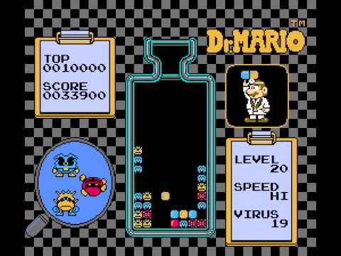 Dr. Mario - Dr Mario (NES) - Level 20, High Speed - User video