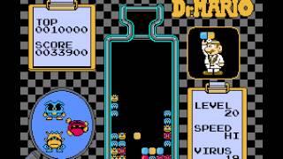 Dr Mario (NES) - Level 20, High Speed