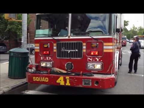 APT. FIRE - FDNY RESCUE 3, FDNY ENGINE 50, 71, 92 SQUAD 41, LADDER 59, TOWER LADDER 44, 17, RAC 3.