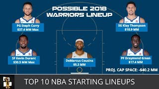 Top 10 NBA Starting Lineups For The 2018-19 Season From NBA Weekly with Harris Rubenstein