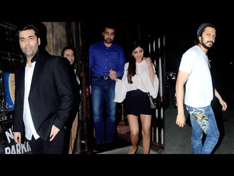 Karan Johar, Shilpa Shetty and other Bollywood stars spotted at a restaurant in Mumbai