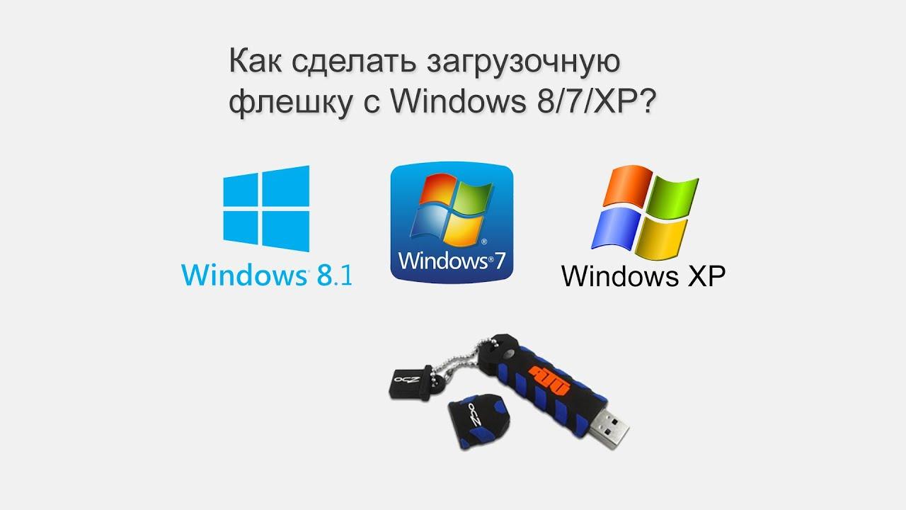 Как сделать загрузочную флешку windows 7 windows 8.1