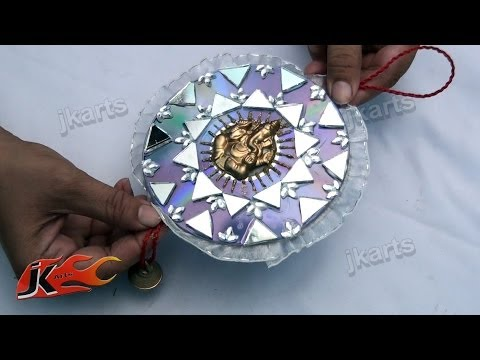 110 How to make car and wall hanging out of waste DVDs