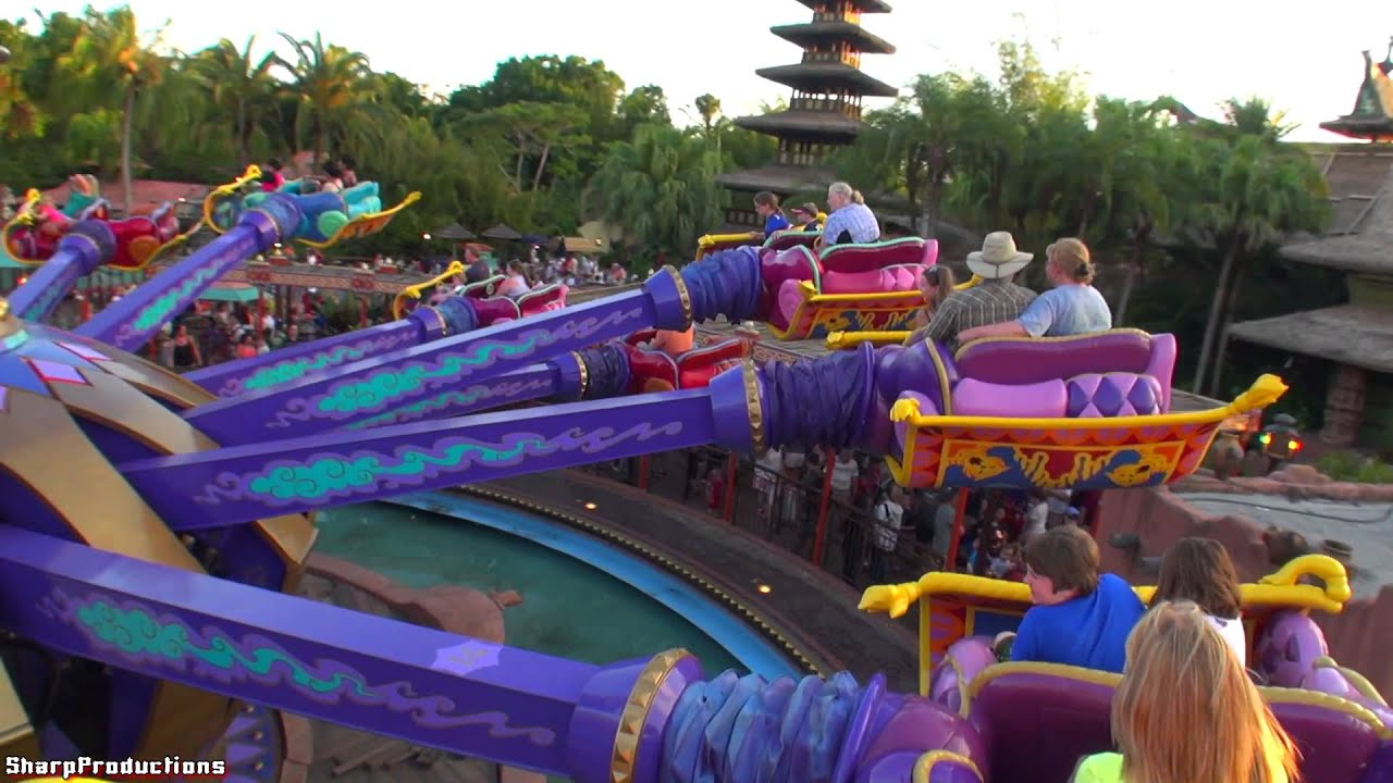 ... Carpets of Aladdin (On-Ride) Disney Worldu0026#39;s Magic Kingdom - YouTube