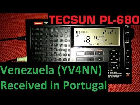 Venezuela amateur radio on 17 meters (YV4NN) - Received in Portugal - Tecsun PL-680