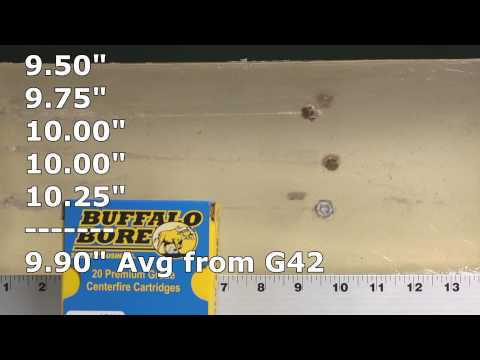 Glock 42 G42 ammo test: Buffalo Bore .380 ACP review in ClearBallistics gelatin