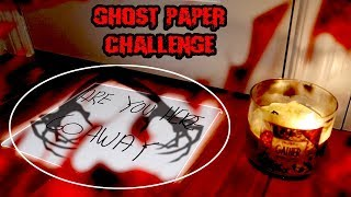 (IT WORKED!) DONT TRY THE GHOST PAPER CHALLENGE AT 3 AM *THIS IS WHY*