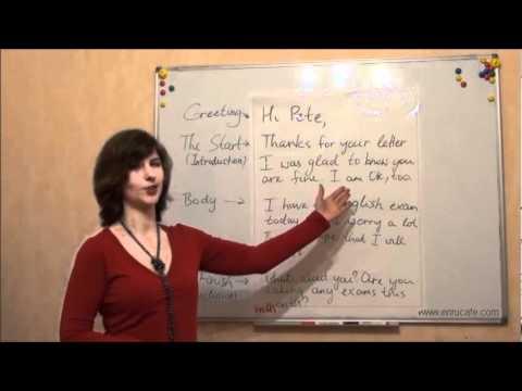 Видео как научиться писать письма