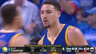 The Playoff Game Klay Thompson Made History