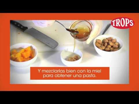 Receta de TROPS , mango en tempura con miel y nuez de macadamia, por Dani Garcia