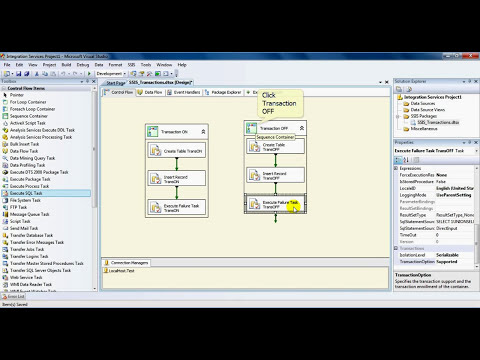 TSQL/MSBI Knowledge Share Videos: SSIS Transactions With SQL DB