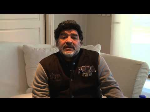 El apoyo de Maradona a Aníbal Fernández