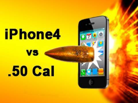 iPhone 4 vs .50 Cal Sniper Rifle iPhone 4s: Tech Assassin RatedRR