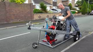 Home built scissor lift bike trailer - for sale