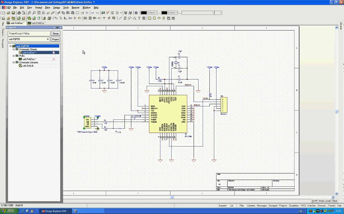 Protel DXP Training Ch 5  From    Schematic       Diagram    To PCB