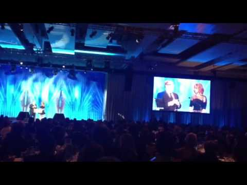 Jennifer Lawrence presenting at the 2013 GLAAD Awards