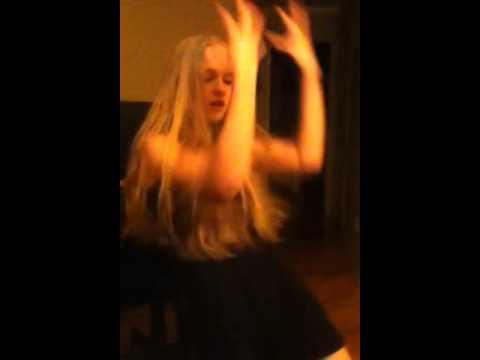 Flo dancing to Hannah Montana