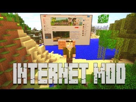 INTERNET EN MINECRAFT!! - MINECRAFT MOD - INTERNET MOD