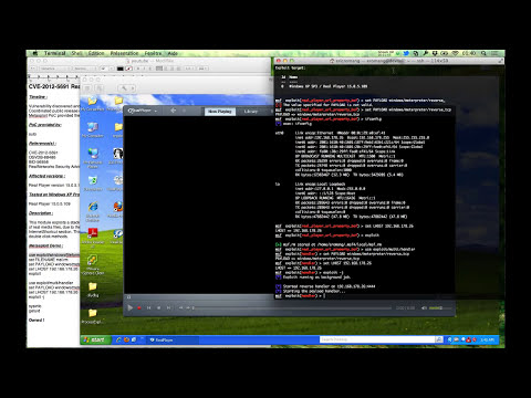 CVE-2012-5691 RealPlayer RealMedia File Handling Buffer Overflow Metasploit Demo