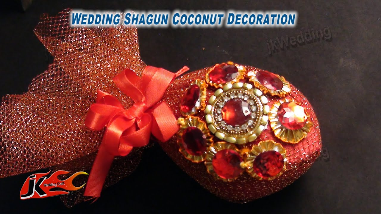 Coconut decoration for wedding