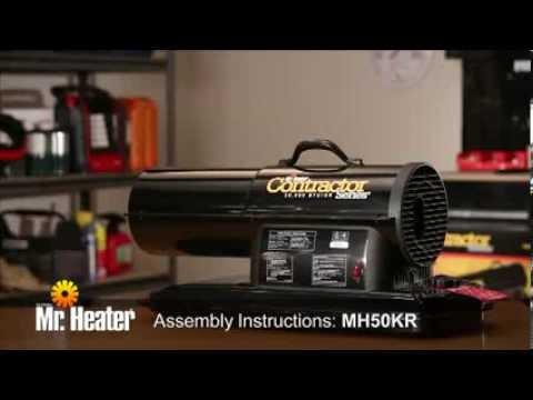 Mr Heater Forced Air Kerosene Heater assembly