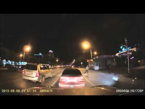 Сбил пешехода Актобе (видеорегистратор)