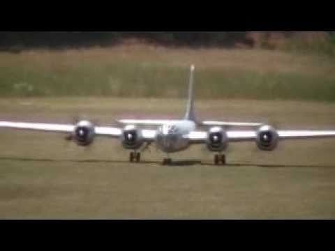 Giant RC B-29 with X-1 Rocket at Hodges Hobbies
