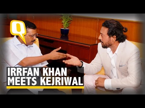The Quint: Irrfan Khan meets Kejriwal to Raise Concerns of 'Common Man'