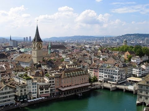Recorded August 12, 2011: Video of Switzerland's largest city. From: http://timvp.com.