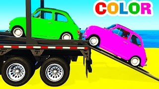 Fun Cars Transportation And Spiderman Cartoon For Kids And Colors For Toddlers Nursery Rhymes
