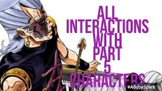 All Polnareff Interactions with Part 5 Cast (Jojo's Bizarre adventure Eyes of Heaven)