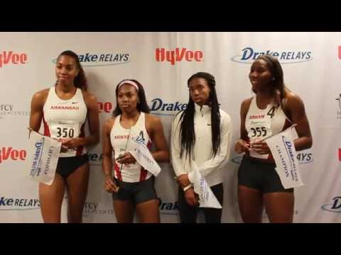 Arkansas - Williams, Harper, Ellis-Watson, Williams | Post Drake Relays Victory 2015