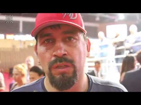 Paul Buentello after defeating Rameau Thierry  at Abu Dhabi Warriors 3