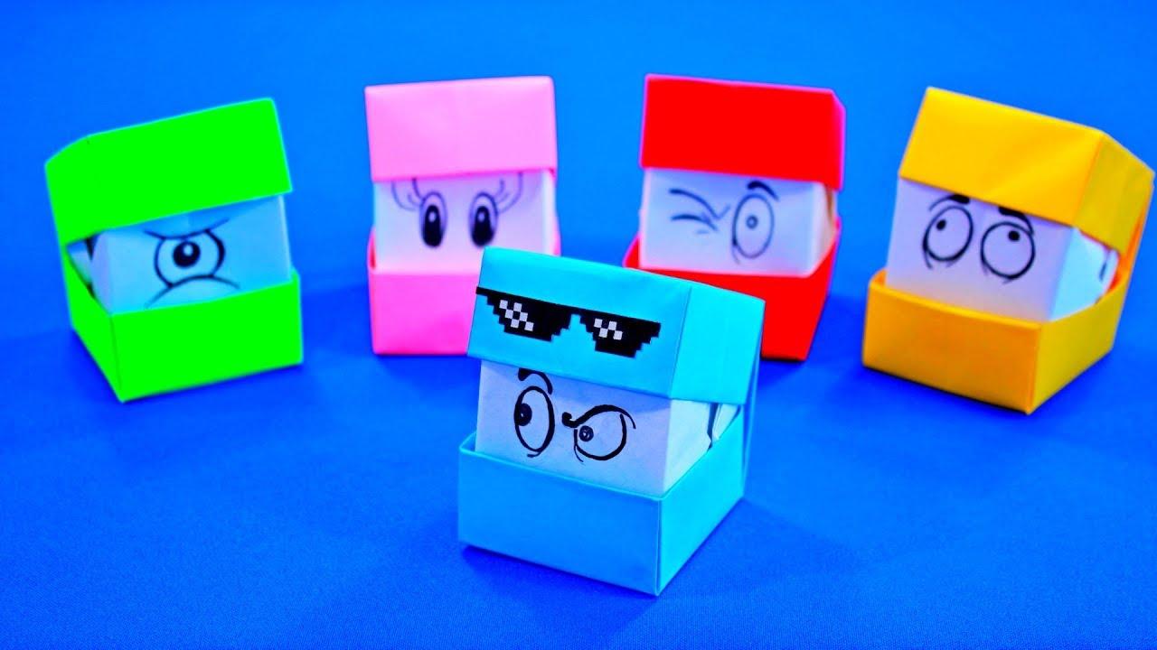 Оригами из бумаги кубик который меняет лица