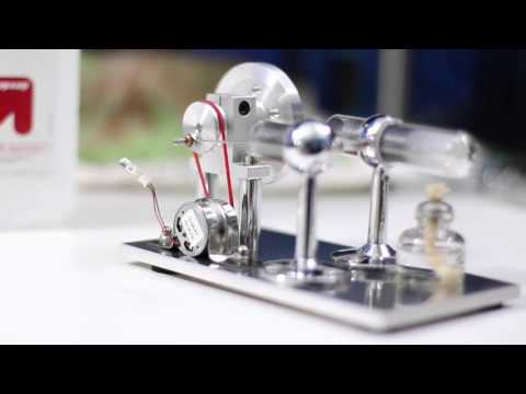 SunnyTech Stirling Engine SC001. Demonstration / Review