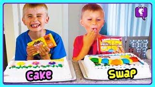 CAKE SWAP CHALLENGE! Salty Vs Sweet, Eeeky Vs Yummy Compilation with HobbyKids