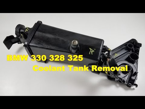 bmw 330ci Coolant Expansion Tank Reservoir Removal E46 325 330 bimmermerchant