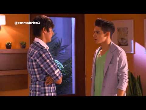 Violetta 1 Ludmila le dice a León que Federico intento besar a Vilu y va a habla con él 01x59