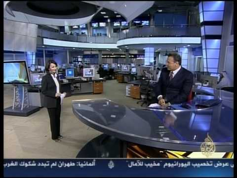 Jamal Rayyan announcing his Jordanian HAM radio call sign (JY5FX) on Aljazeera Channel