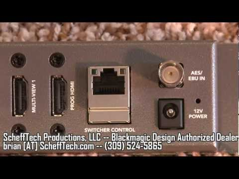 Blackmagic Design ATEM Television Studio TVS Production Switcher Review, Demo, and Features