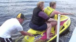 Hilarious / Funny Video of Daughter Giving Her Mother A Jet Ski Ride