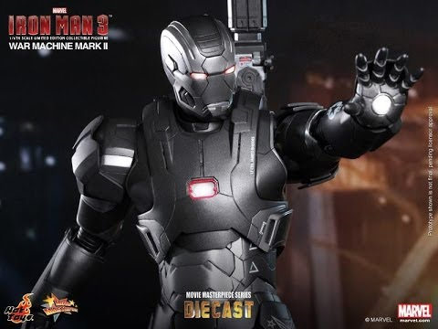 Iron Man 3 Hot Toys War Machine Mark II Diecast Movie Masterpiece 1/6 Scale Figure Review